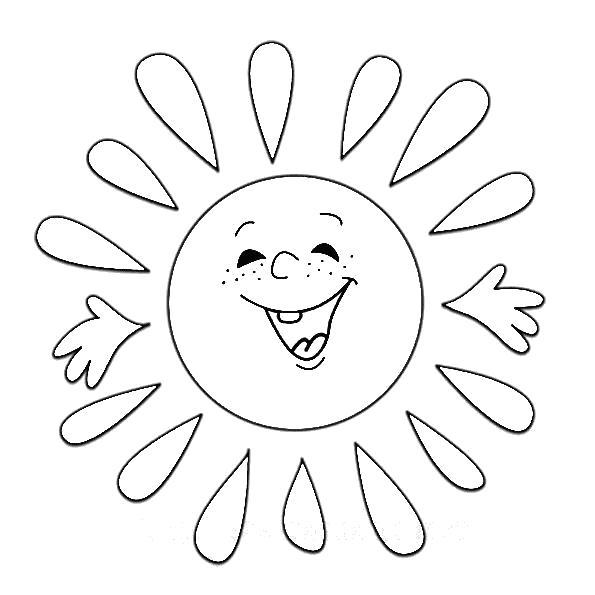 Раскраска Солнышко. Скачать природа.  Распечатать природа