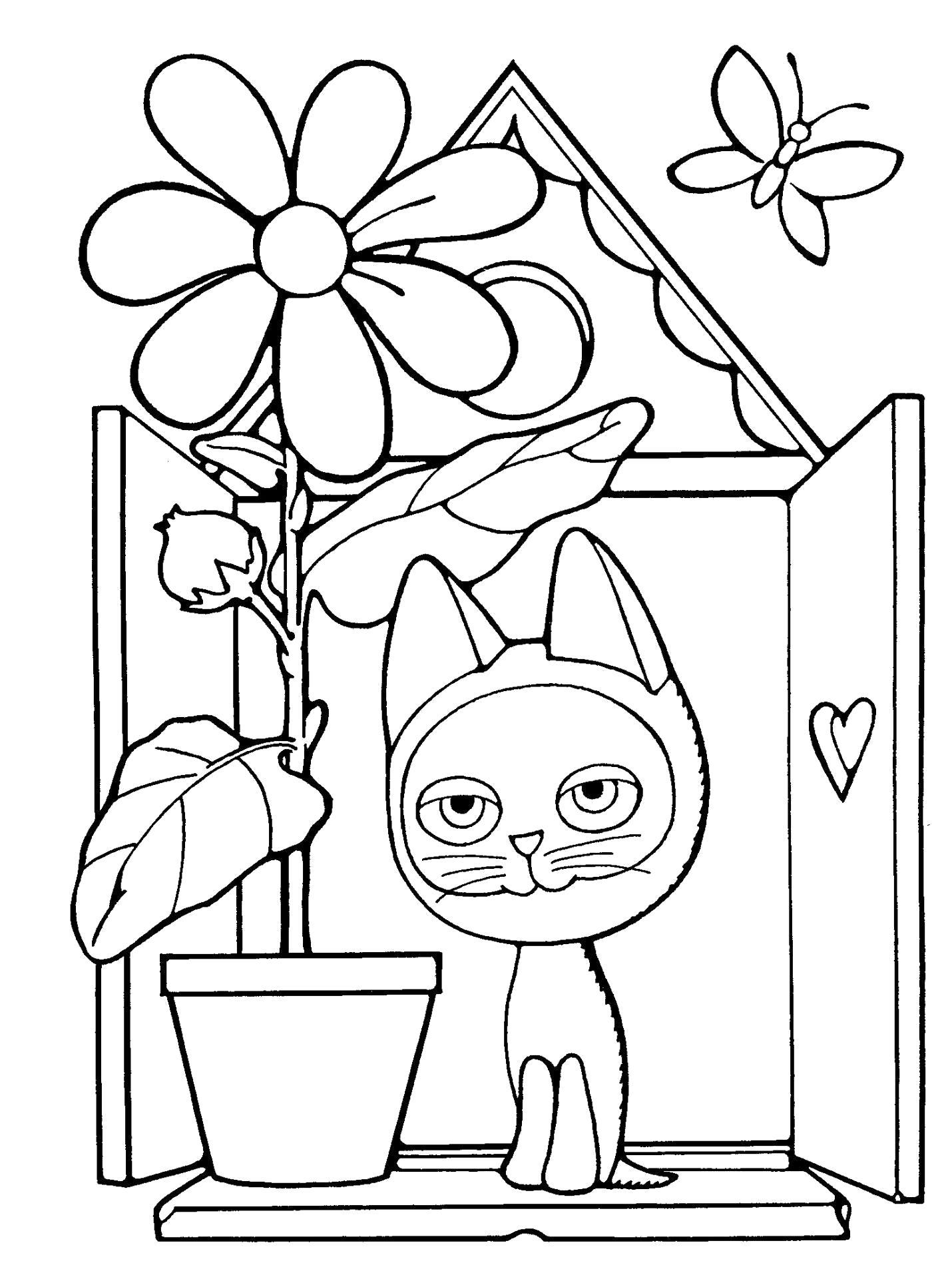 Раскраска Котёнок по имени Гав. Скачать .  Распечатать
