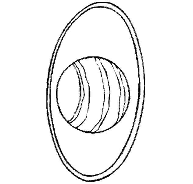 Раскраска Кольца планеты. Скачать Планеты.  Распечатать Планеты