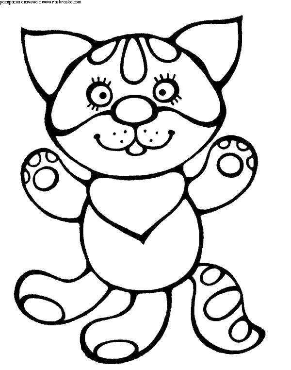 Раскраска  Кот. Скачать Котенок.  Распечатать Домашние животные