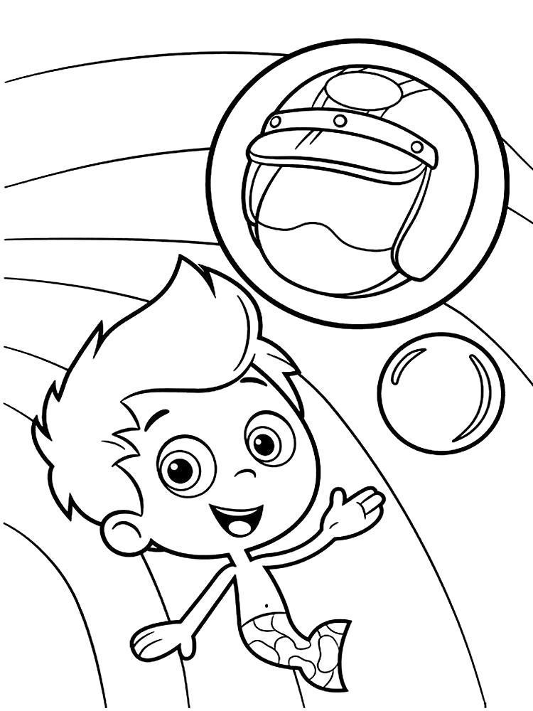 Раскраска Гуппи и пузырьки увлекательные  для детей. Скачать .  Распечатать