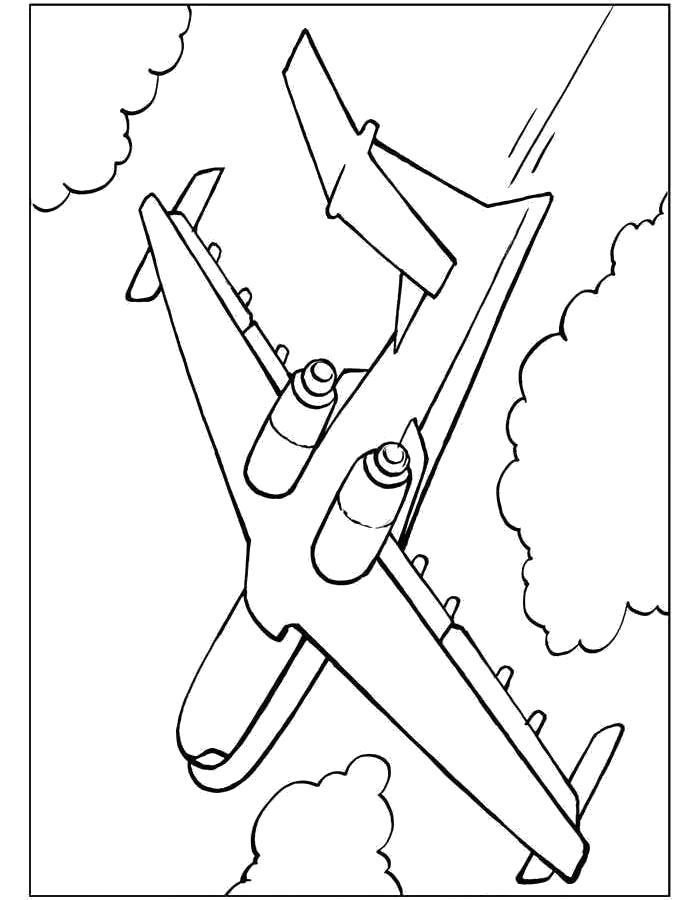 Раскраска Самолёт, самолет МЧС. Скачать самолет.  Распечатать самолет