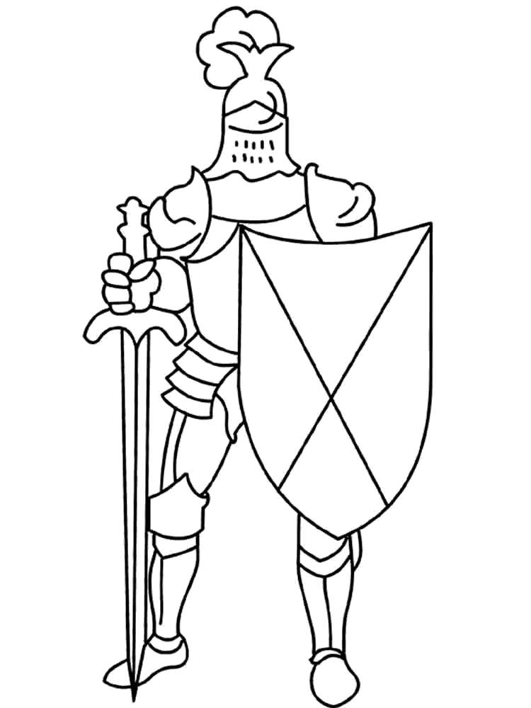 Название: Раскраска Рыцарь. Категория: рыцари. Теги: рыцари.