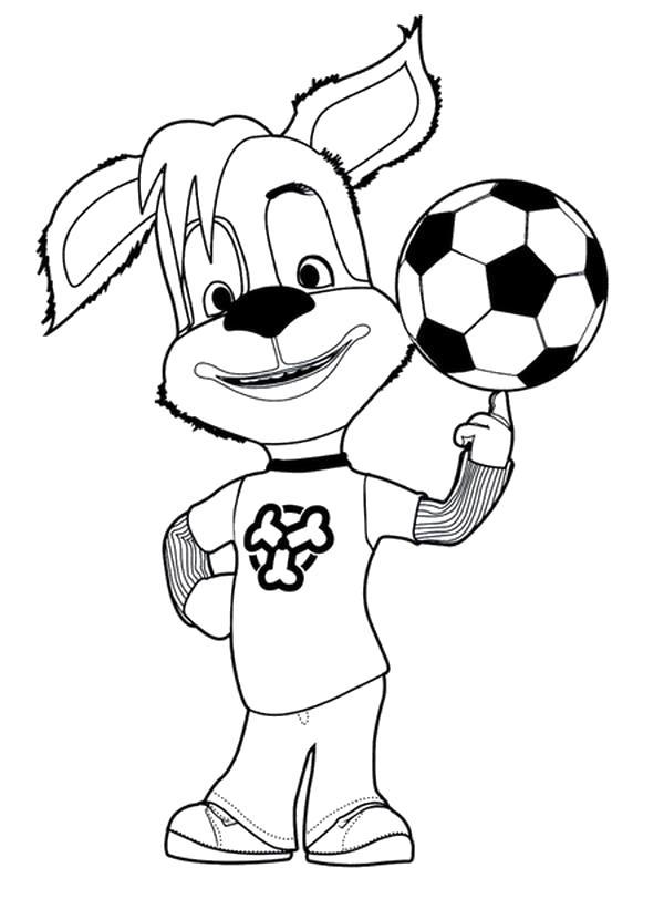 Раскраска Дружок с мячом. Скачать Барбоскины.  Распечатать Барбоскины