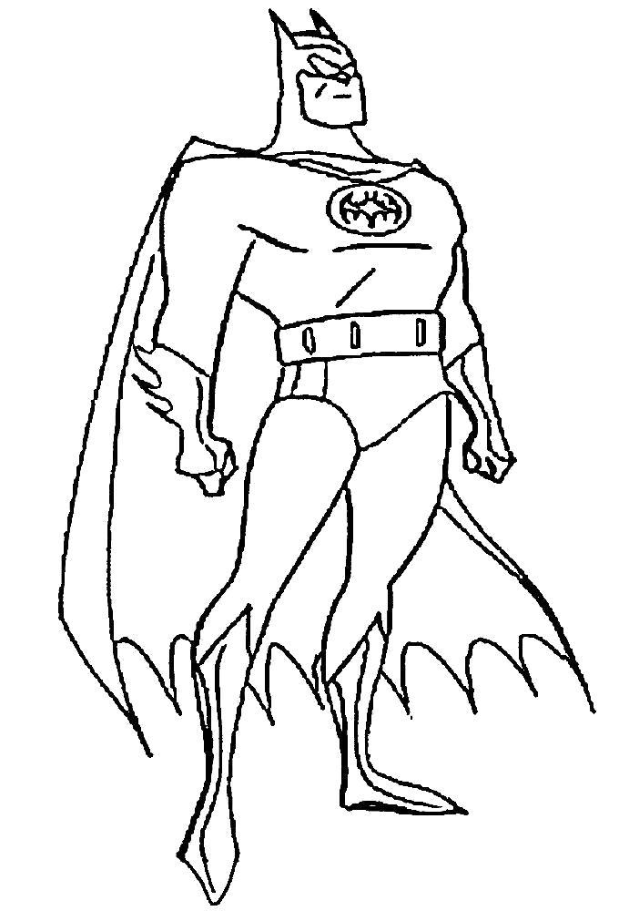Раскраска Бэтмэн. Скачать Супергерои.  Распечатать Супергерои