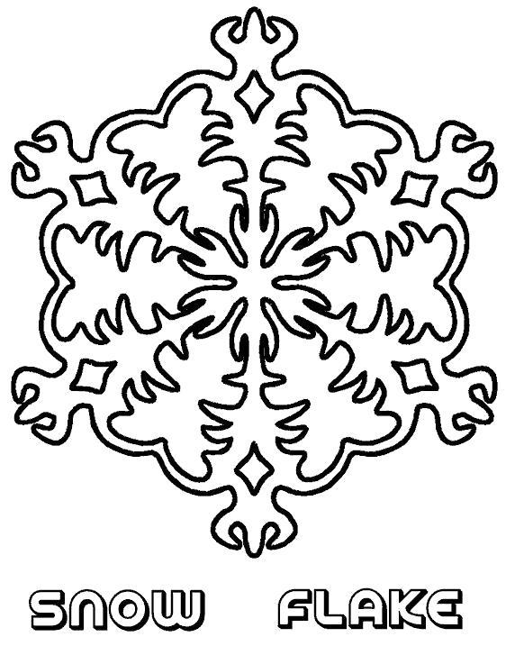 Раскраска Кристаллики воды. Скачать снежинка.  Распечатать снежинка