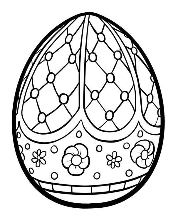 Раскраска Узорчатое яичко. Скачать .  Распечатать