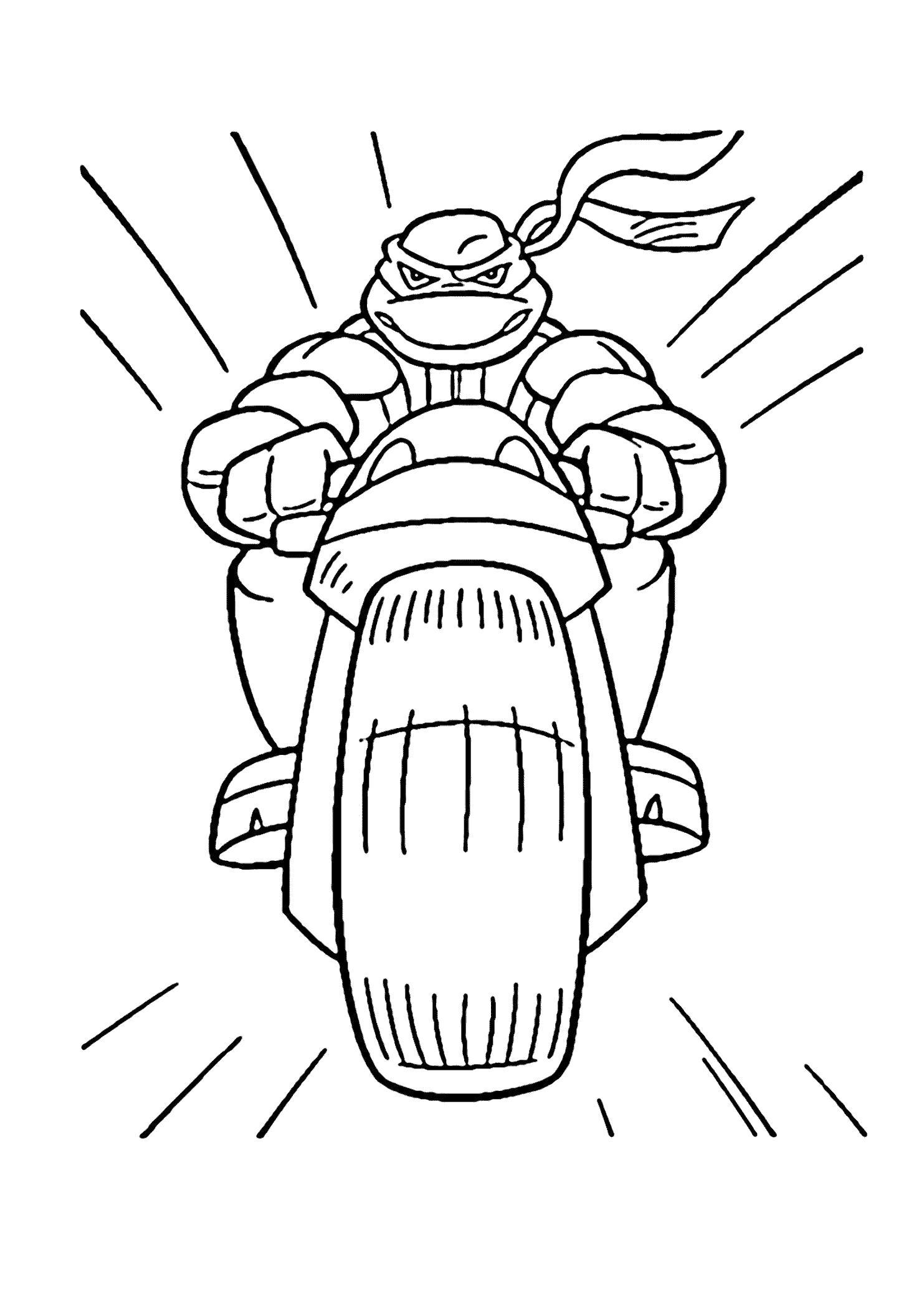 Раскраска Черепашки Ниндзя. Скачать Леонардо.  Распечатать Черепашки ниндзя