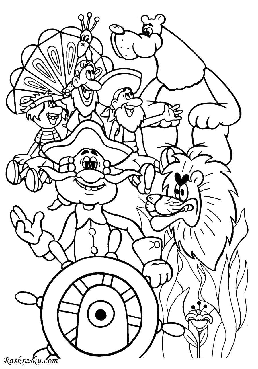 Раскраска Приключения Мюнхгаузена. Скачать Мюнхгаузен.  Распечатать Мюнхгаузен
