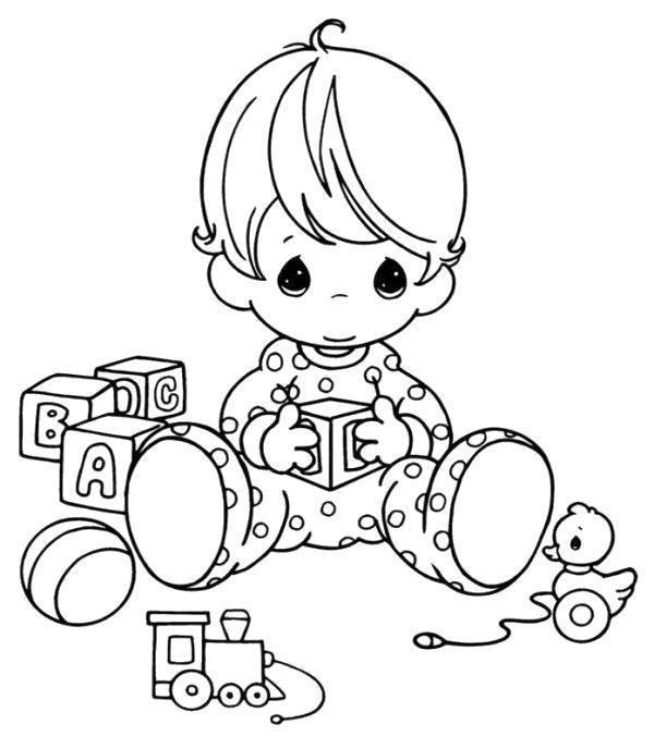 Раскраска Маленький ребенок. Скачать .  Распечатать