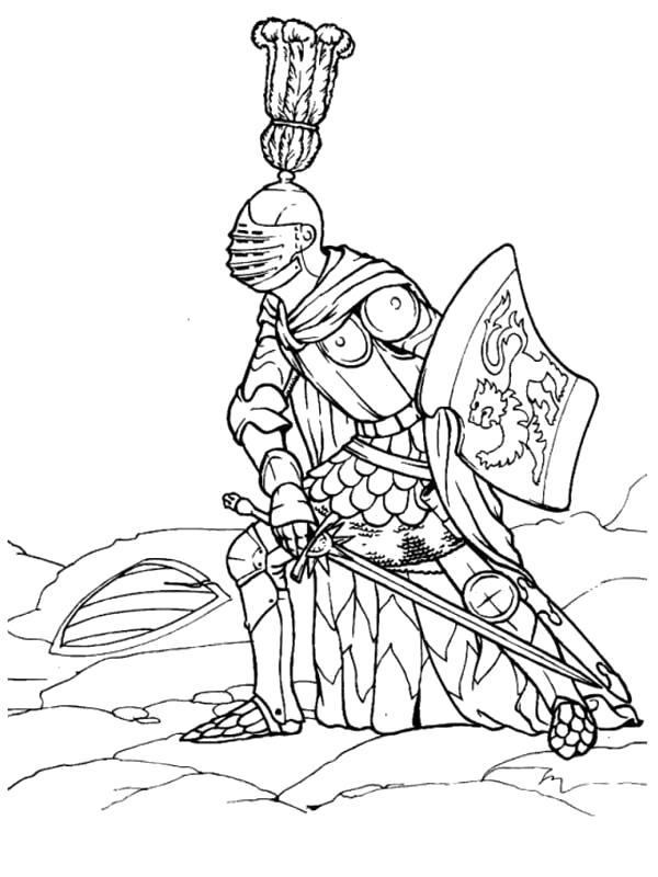 Раскраска Рыцарь. . Скачать Рыцарь.  Распечатать Рыцарь