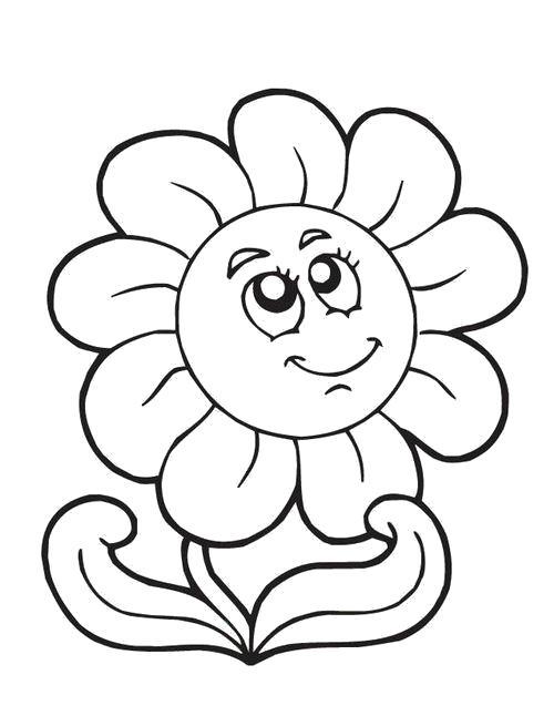 Раскраска  ромашка. Скачать Цветы.  Распечатать Цветы