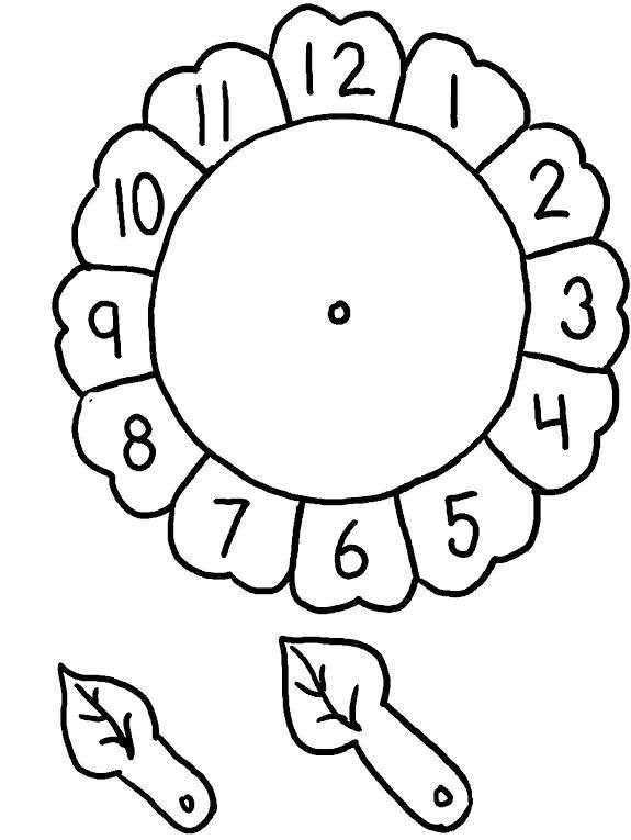 Раскраски Часы, Лучшие раскраски в формате А4.