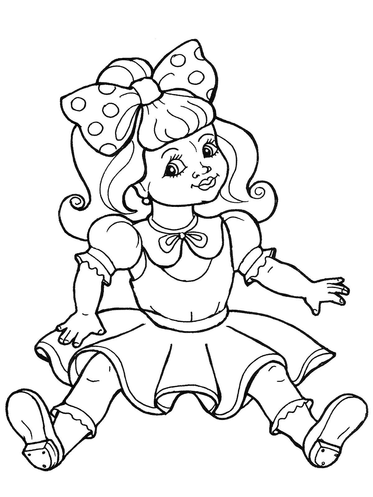 Раскраска Мальвина. Скачать кукла.  Распечатать кукла