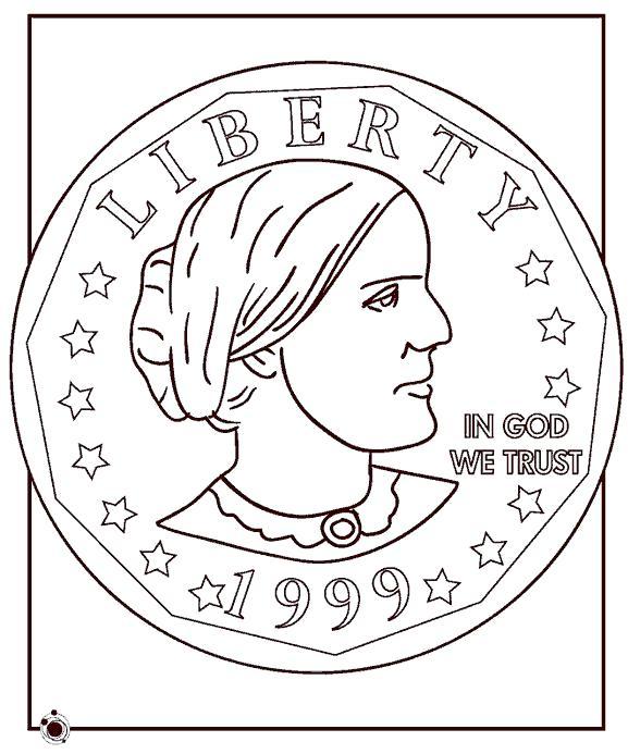 Название: Раскраска Монета. Категория: . Теги: .