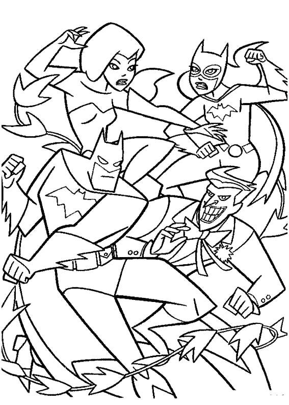 Раскраска Скачать и распечатать  Бэтмен для детей бесплатно. Скачать Бэтмен.  Распечатать Комиксы и супергерои
