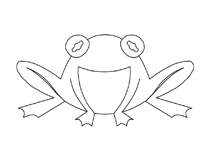 Раскраска  Лягушка для детей. Скачать лягушка.  Распечатать лягушка