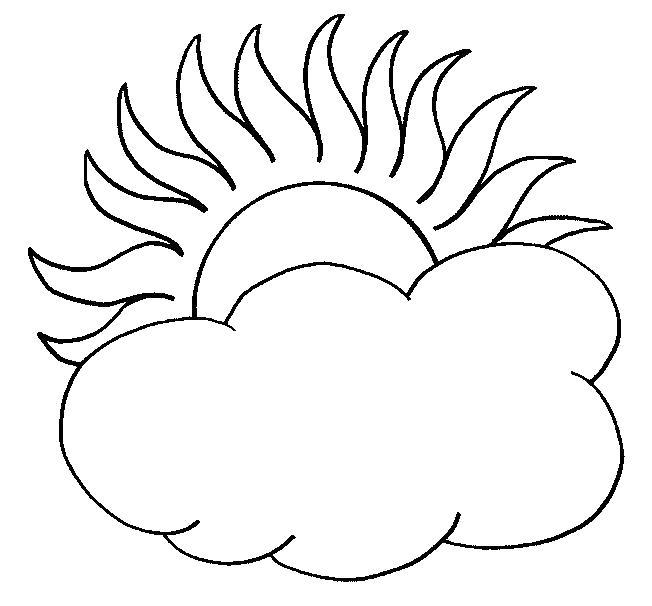 Раскраска Шаблоны для вырезания  явления  явления природы, облачко , тучка, солнышко  распечатать. Скачать Шаблон.  Распечатать Шаблон