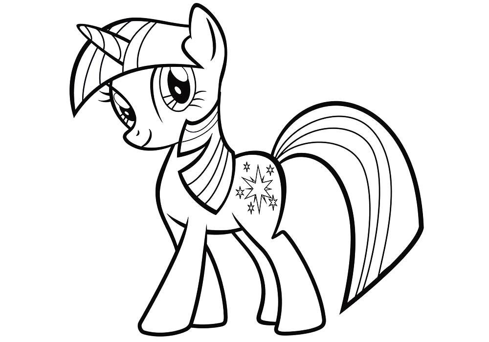 Раскраска Пони Искорка . Скачать Пони.  Распечатать Пони