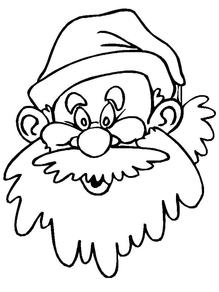 Раскраска  Портрет деда Мороза. Скачать Дед мороз.  Распечатать Новый год