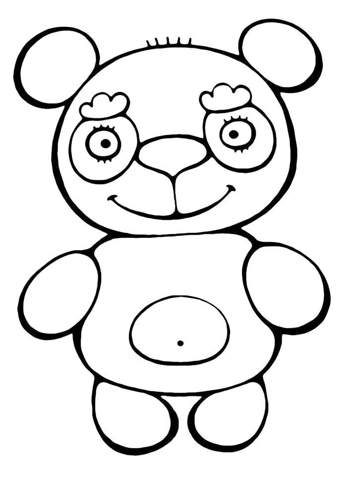Раскраска  Игрушка. Скачать медведь.  Распечатать медведь