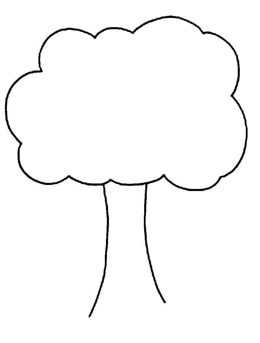Раскраска  деревья дерево шаблон для вырезания из бумаги. Скачать дерево.  Распечатать растения