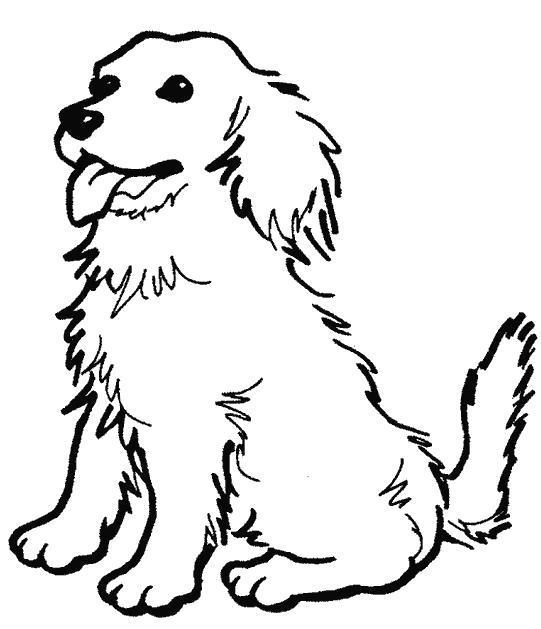 Раскраска Верный пёс. Скачать .  Распечатать
