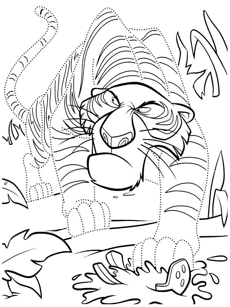 Раскраска Нарисовать по точкам и раскрасить Маугли. Скачать по точкам.  Распечатать по точкам