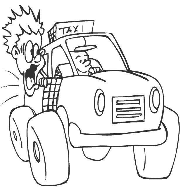 Название: Раскраска Такси. Категория: . Теги: .