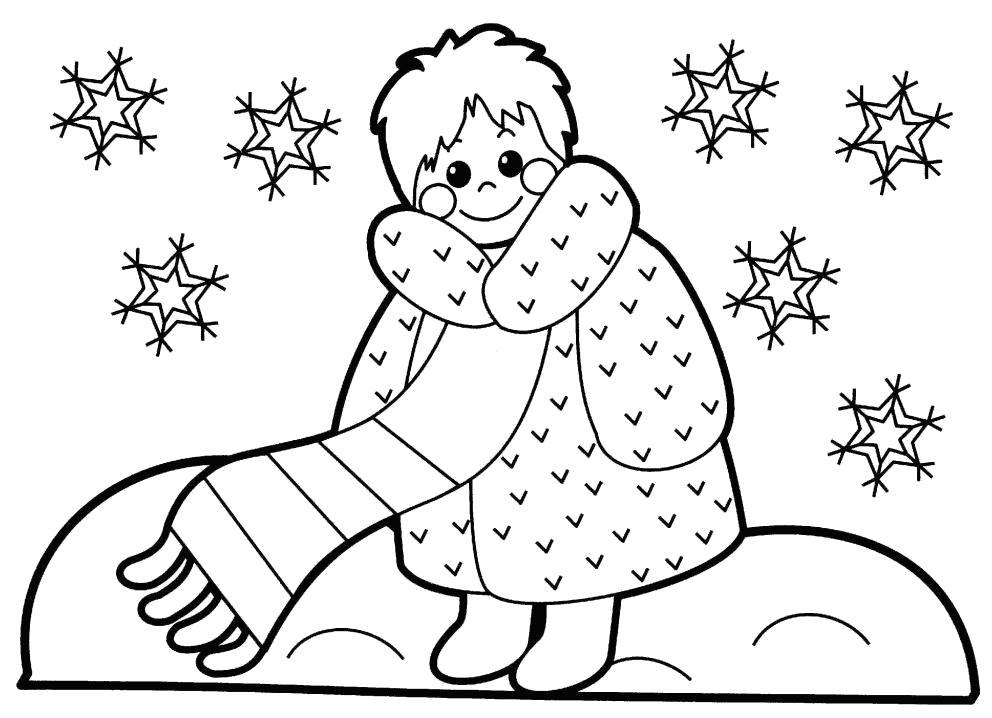Раскраска Зимний наряд. Скачать .  Распечатать