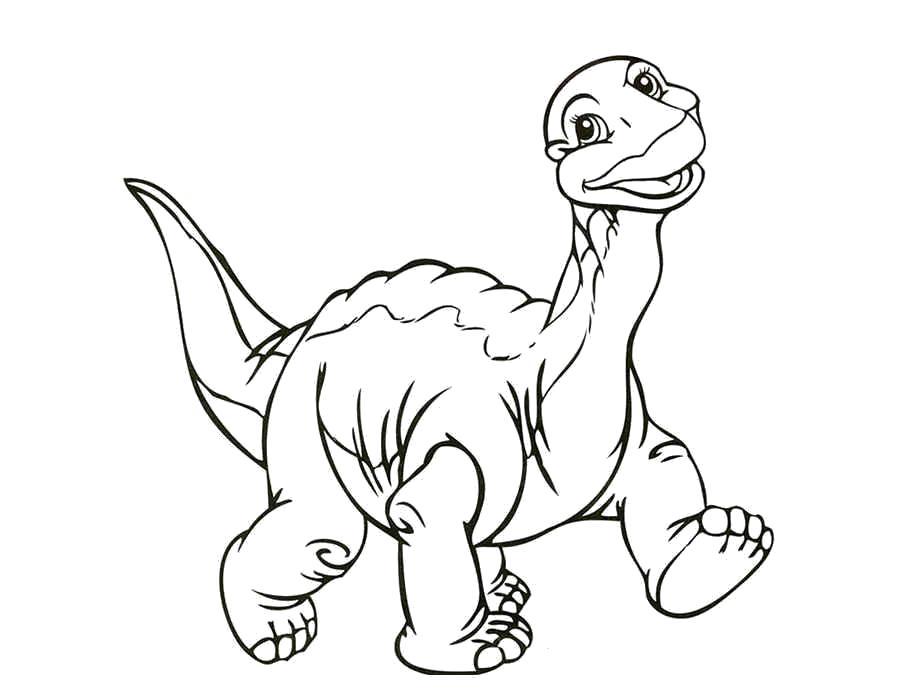 Раскраска  динозавр, радостный дно, дино улыбается, . Скачать динозавр.  Распечатать динозавр