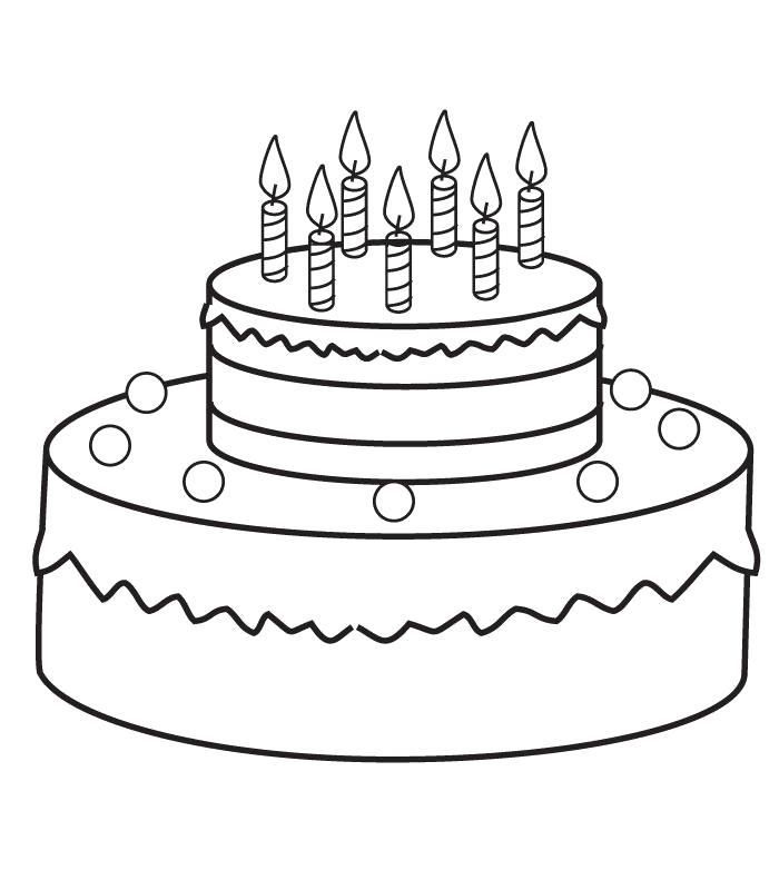Раскраска  Торт . Скачать торт.  Распечатать еда