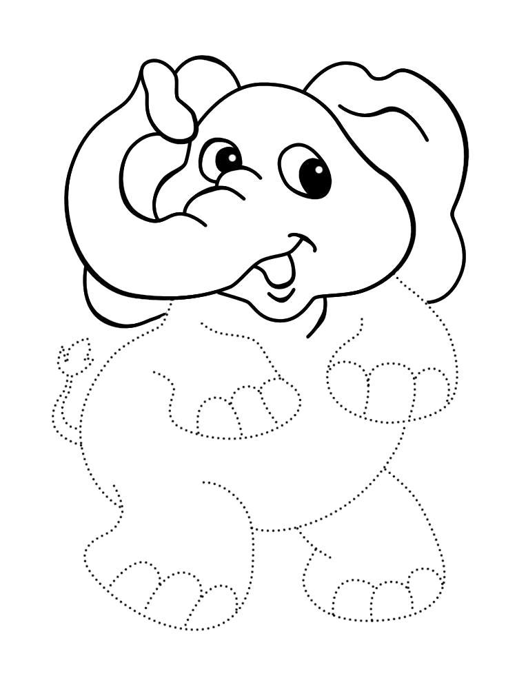 Раскраска Распечатать картинки с африканскими животными для раскрашивания. Обведи по точкам и раскрась.. Скачать обведи по точкам.  Распечатать дорисуй по точкам