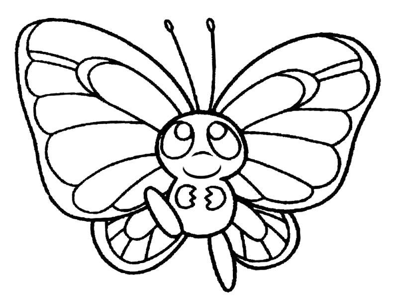 Раскраска Милашка. Скачать бабочки.  Распечатать бабочки