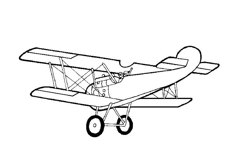Раскраска Самолет, самолет кукурузник. Скачать Транспорт.  Распечатать Транспорт