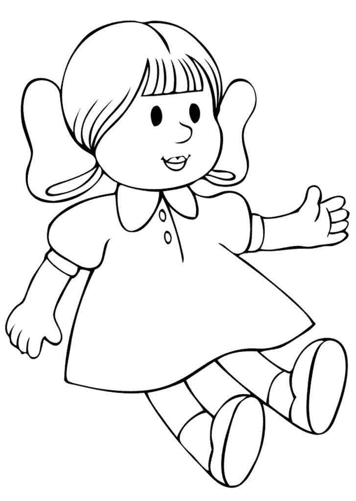 Раскраска Кукла . Скачать кукла.  Распечатать кукла
