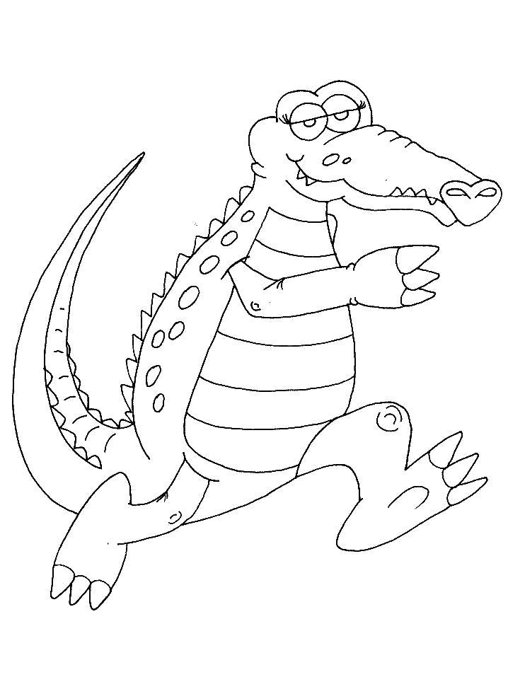 Раскраска Спеши медленно. Скачать крокодил.  Распечатать крокодил