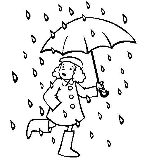 Раскраска Скорее домой!. Скачать дождь.  Распечатать дождь