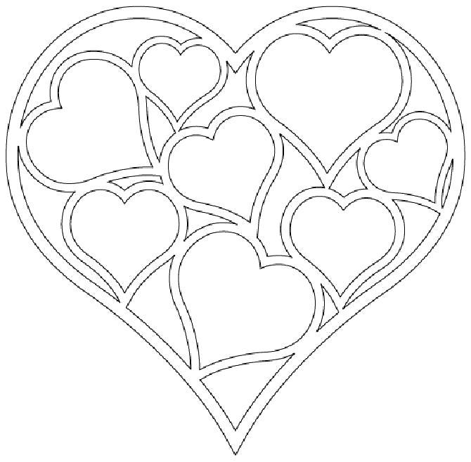 Раскраска Декор на День Святого Валентина. Скачать день Святого Валентина.  Распечатать день Святого Валентина