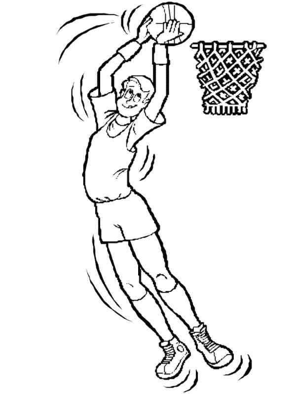 Раскраска  кольцо баскетбол, , заброс, прыжок, мяч. Скачать Баскетбол.  Распечатать Баскетбол