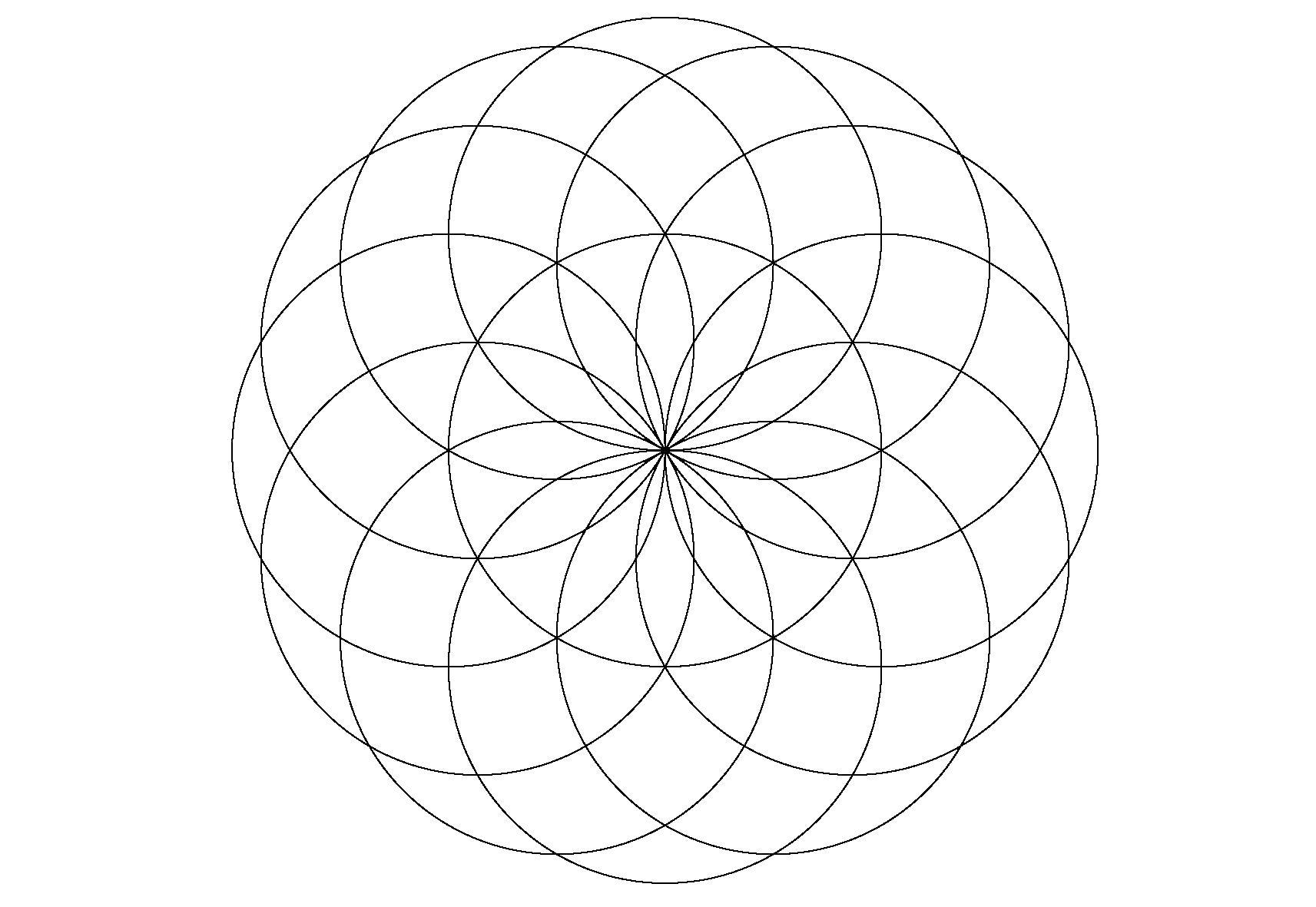 Раскраска Узоры. Скачать круг.  Распечатать геометрические фигуры