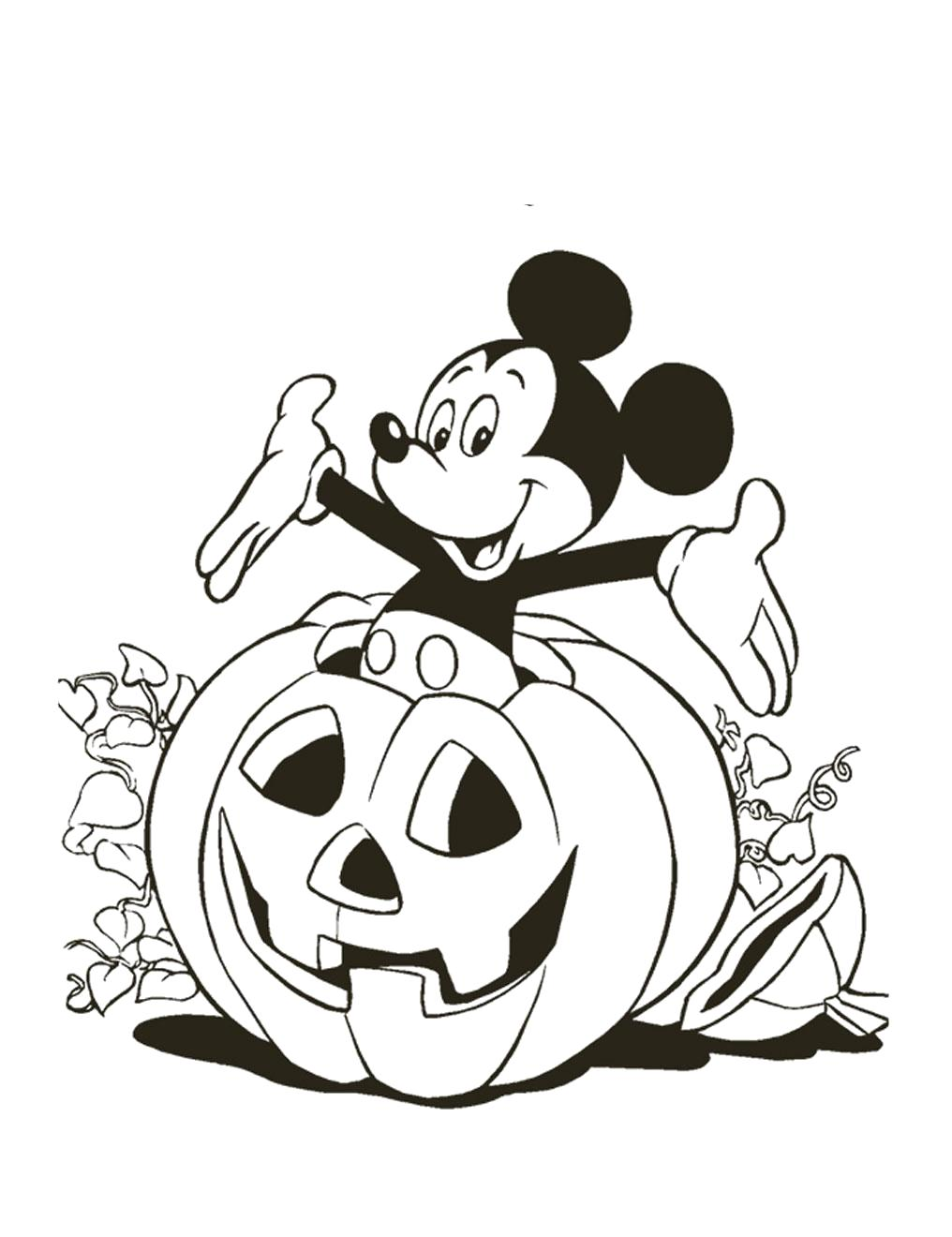 Раскраска Хэллоуин. Скачать Микки маус.  Распечатать Микки маус