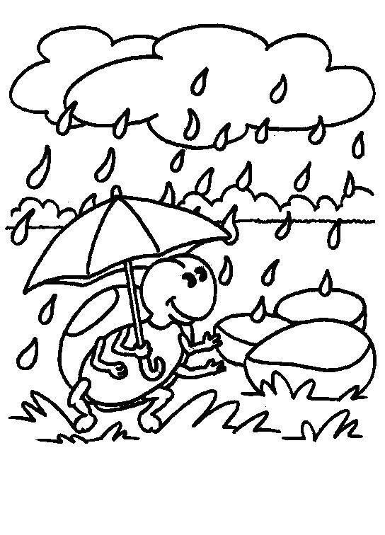 Раскраска  Дождь. Скачать .  Распечатать