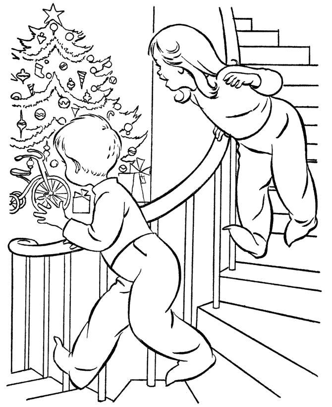 Раскраска Ночь Рождества. Скачать .  Распечатать