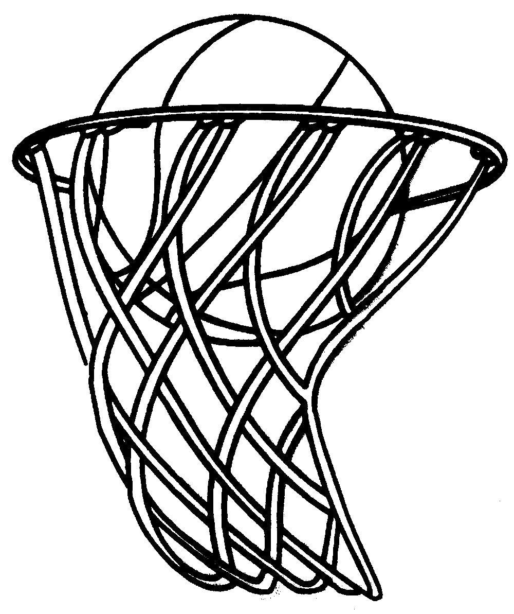 Раскраска  мяч баскетбол, мяч в кольце, спорт, . Скачать Баскетбол.  Распечатать Баскетбол