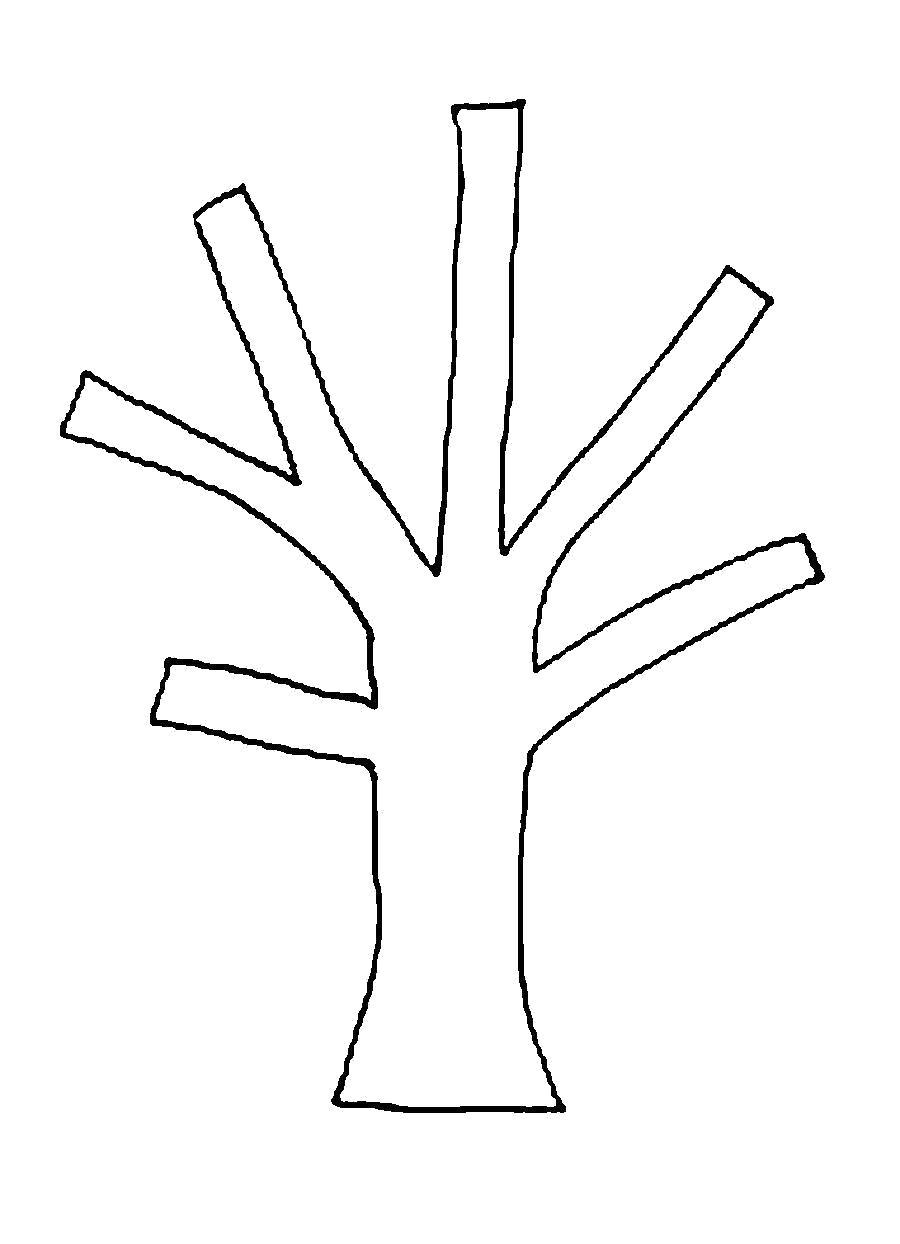 Раскраска  Деревья для вырезания из бумаги вырезаем дерево в детском саду . Скачать дерево.  Распечатать растения