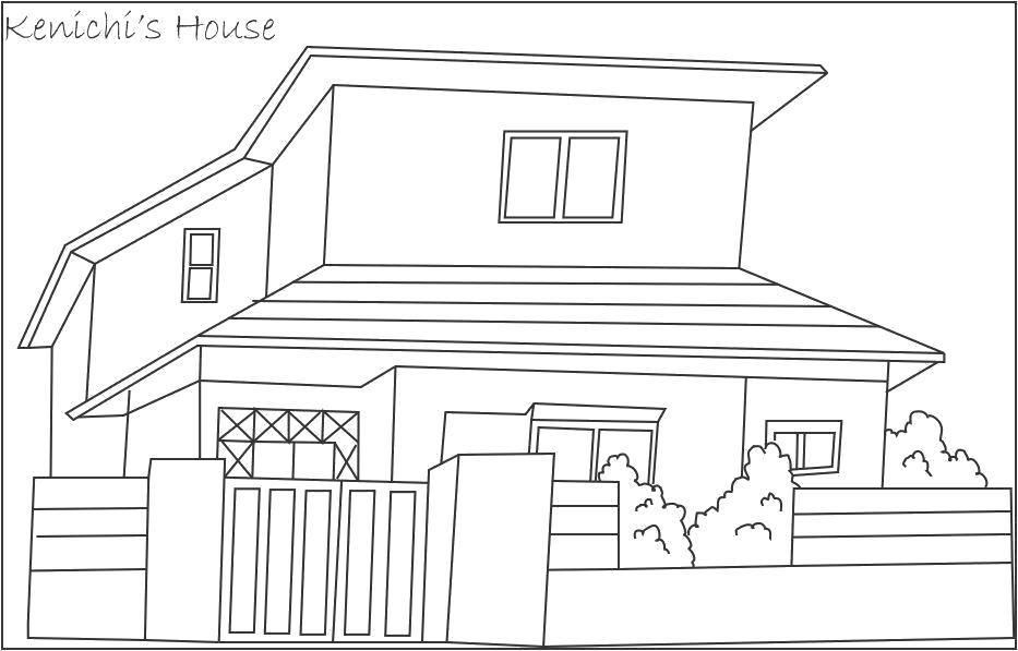 Раскраска дом . Скачать Дом.  Распечатать Дом