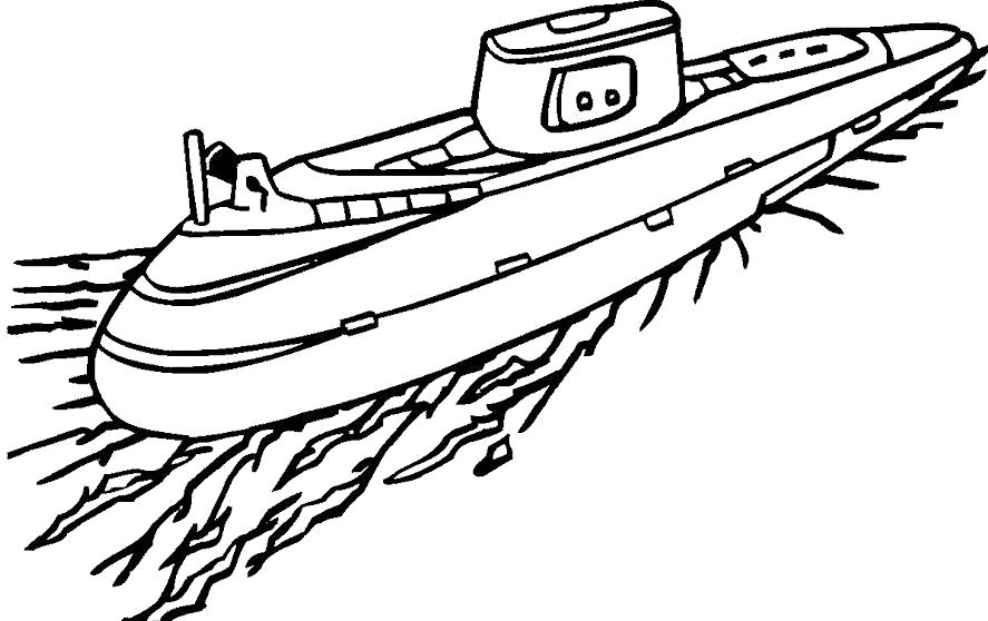 Раскраска Подводная лодка. Скачать Подводная лодка.  Распечатать Подводная лодка