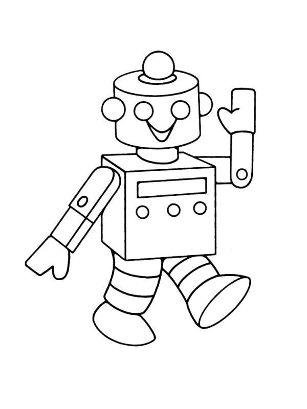 Раскраска  роботы робот. Скачать Робот.  Распечатать Робот