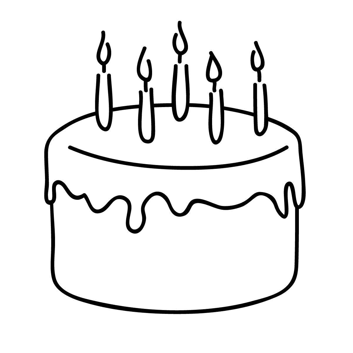 Раскраска Вкусный тортик. Скачать торт.  Распечатать еда